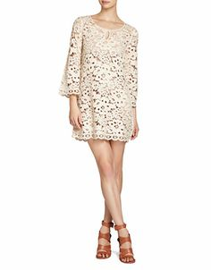 Women's Apparel | Boutiques | Tianya Crochet Tunic Dress | Lord and Taylor