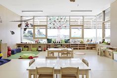Daylit Austrian Kindergarten is a Bright, Open Space That Blends With the Outdoors Neufeld an der Leitha Kindergarten by Solid Architecture – Inhabitat - Sustainable Design Innovation, Eco Architecture, Green Building