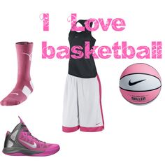 CUTE BASKETBALL CLOTHES!!!! I would so wear this only in blue though.