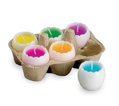 Egg Shell Candles, set of 6