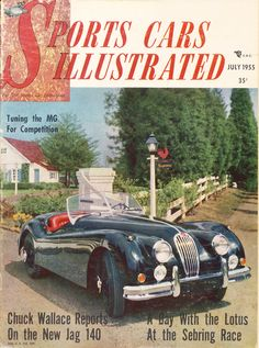 We weren't always Car and Driver, here's our very first issue from July 1955, when we were originally named Sports Cars Illustrated  #throwback #car #antique #Sebring #sportscar #magazine