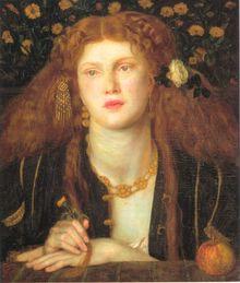 Bocca Baciata (1859) signaled a new direction on Rossetti's work. (Model: Fanny Cornforth)