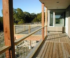 Deck railing option #3: Hog Pen / bull wire Panels
