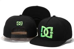 DC Shoes Snapbacks Black Green Logo|only US$6.00 - follow me to pick up couopons.