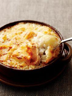 【ELLE a table】じゃがいもとチーズ、たらこのドリアレシピ|エル・オンライン