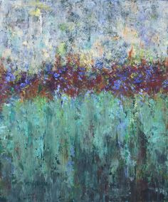 """""""Walking in The Garden"""" Oil and Cold Wax www.brendaallison.com"""