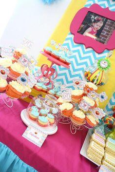Chevron Print Sesame Street 2nd Birthday Party