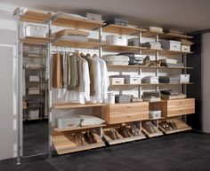 Walk In Wardrobe System  Prefer shoes more together, too loose for me ??