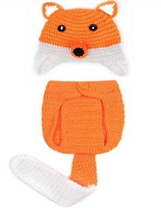 Lakshyaa Baby Boy Girl Orange and White Beanie Hat Outfit Photography Prop * Check out this great product.