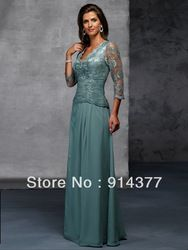 Online Shop Summer Beautiful newest !Natural Simple Aline Floorlength V neck Ruched Chiffon Zipper Mother of the Bride Dresses Evening Gowns Aliexpress Mobile