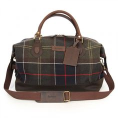 Striped Wool Medium Explorer Weekend Bag by Barbour. Unique and ...