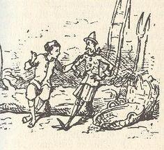 """Lucignolo - Enrico Mazzanti,forst illustrator ( 1883) of """"Le avventure di Pinocchio"""""""