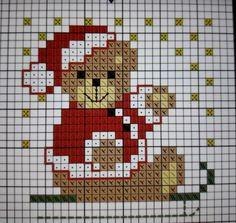Bear on sleigh Christmas card - Bear on sleigh Christmas card - Tiny Cross Stitch, Xmas Cross Stitch, Cross Stitch Cards, Cross Stitch Borders, Simple Cross Stitch, Modern Cross Stitch, Cross Stitch Kits, Cross Stitching, Cross Stitch Embroidery