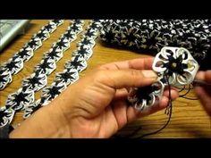Como hacer una bolsa con anillas de lata: Bolsa de Flores Parte 2