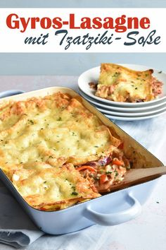 Lasagna with a difference & as gyros version with tzatziki sauce instead of béchamel, vegetarian, vegan possible, e. Thermomix The post Gyros lasagna. With tzatziki. appeared first on Food Monster. Healthy Chicken Recipes, Pork Recipes, Pasta Recipes, Healthy Dinner Recipes, Breakfast Recipes, Salsa Tzatziki, Tzatziki Sauce, Sausage Recipes, Grilling Recipes