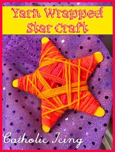Yarn Wrapped Star: Ornament Craft For Kids This is a fun craft for kids, easy to make, makes a good gift, and unlike many of the Christmas crafts (example:reindeer) floating around, and star points to the true meaning of Christmas. our Lord Vbs Crafts, Preschool Crafts, Yarn Crafts, Craft Kids, Christmas Activities For Kids, Holiday Crafts For Kids, Preschool Christmas, Autumn Activities, Ornament Crafts