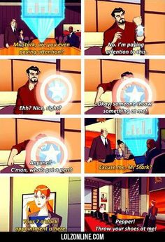 Mr. Stark, Are You Even Paying Attention?#funny #lol #lolzonline
