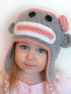 Sock monkey hat pattern by olesya pronyaeva monkey pattern monkey girly sock monkey hat so cute i need to find a pattern dt1010fo