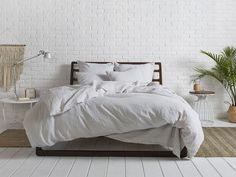 my bedding - Parachute Home, light grey linen.