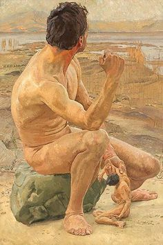 """""""Prometheus"""" - painting by Otto Greiner"""