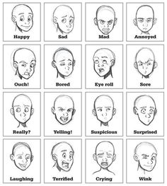 Image result for drawing facial expressions
