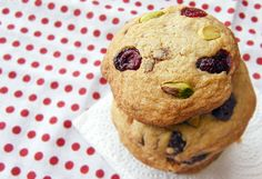 Cranberry white chocolate cookies   With pistachio nuts. Moi…   Flickr
