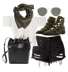 """""""Untitled #21496"""" by florencia95 ❤ liked on Polyvore featuring MANGO, Mansur Gavriel, Ray-Ban and Givenchy"""