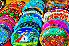 Hand painted mexican plates
