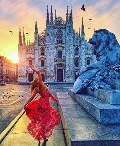 Sunrise in Milan, Italy by Enzo Romano. #travel #explore #adventure #wanderlust #beautiful #trip #photographer #travelingram #travelbug #travelgram #travelling #travelawesome #traveler #instago #instatravel #traveltheworld #amazingview #traveladdict #blog