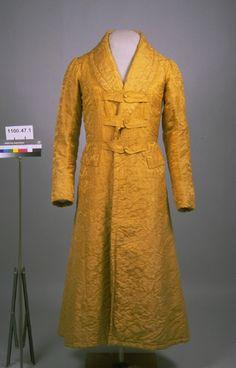 Banyan, 1835-1840 (garment); 1740-1790 (material). 1995.194.3. American Textile History Museum