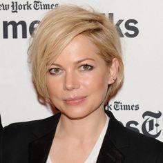 Michelle Williams short asymmetric hairstyle