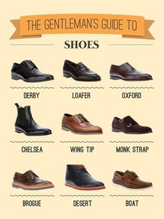 Men's guide to shoes. Perfect options for traveling casually and for business. #MensFashion