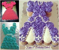 Princess Pull Apart Cupcake Cakes