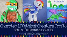 Printable characters to color & cut out (Batman, My Little Pony, Minions, Ninja Turtles, etc.)