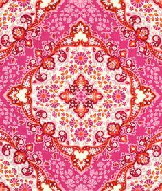Amy Butler Park Fountains Fuchsia Fabric - $8.95 | onlinefabricstore.net