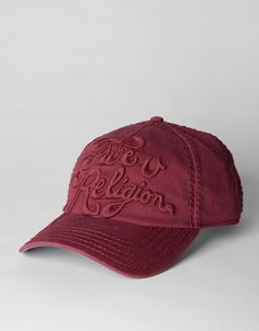 Burgundy True Religion Hat   Omg