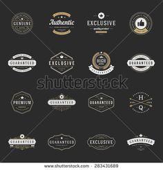 Retro Vintage Premium Quality Labels set. Vector design elements, signs, logos…