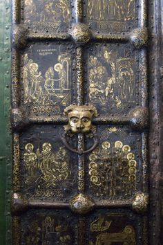 golden doors of the cathedral of the nativity in suzdal, russia (13th century)