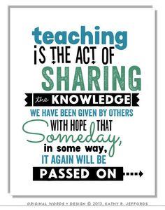 Teaching Is The Act Of Sharing