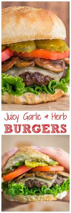 These burgers are fresh, juicy, fluffy and delicious, and feel lighter on the gut than frozen patties. So easy and they totally taste like a gourmet burger! Love this juicy burger recipe | http://natashaskitchen.com