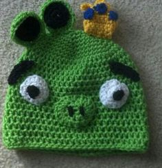 King pig from Space Angry birds- modified from a pattern and made for a customer wanting an angry bird theme for a cub scout skit.