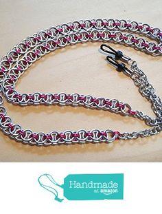 Handmade Eyeglass Lanyard Chain Pink and Silver Chainmail https://www.amazon.com/dp/B01JZSW63G/ref=hnd_sw_r_pi_dp_vrmQxbZ1B7G1N #handmadeatamazon