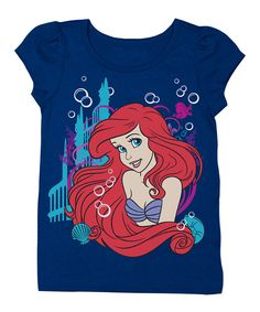 Look at this Navy Ariel Cap-Sleeve Tee - Girls on #zulily today!