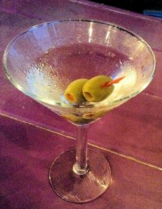 Ketel One Martini Straight Up with Two Olives - at the Dockside Bar!!