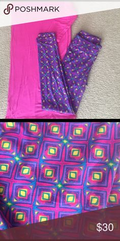 Lularoe Leggings OS OS Lularoe leggings NWT. Styled with Fantastic Fawn top in my closet!  Bundle for a discount! LuLaRoe Pants Leggings
