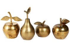 Brass fruit bells