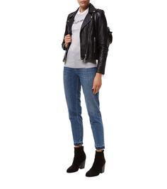 1a648dc9a3693 Women  Jackets Set Leather Biker Jacket Harrods