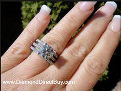 Custom  made 3 set ring with a 2.25ct center at diamonddirectbuy.com