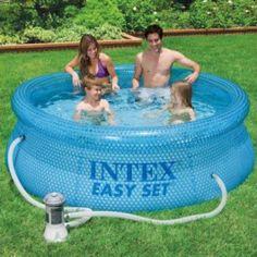 Bewährtes Einsteigermodell mit neuer Optik: 244 x 76 cm - 2419 Liter - Schwimmbecken mit Filterpumpe, Komplettset
