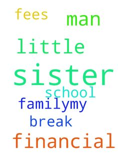 Man of God please pray for a financial - Man of God please pray for a financial break through in my family..my little sister does not have school fees please pray for my little sister Posted at: https://prayerrequest.com/t/qEC #pray #prayer #request #prayerrequest
